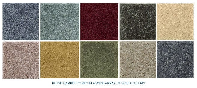 plush carpet color choices