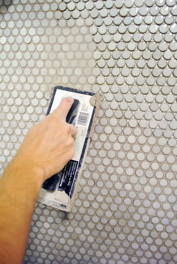 penny tile grout