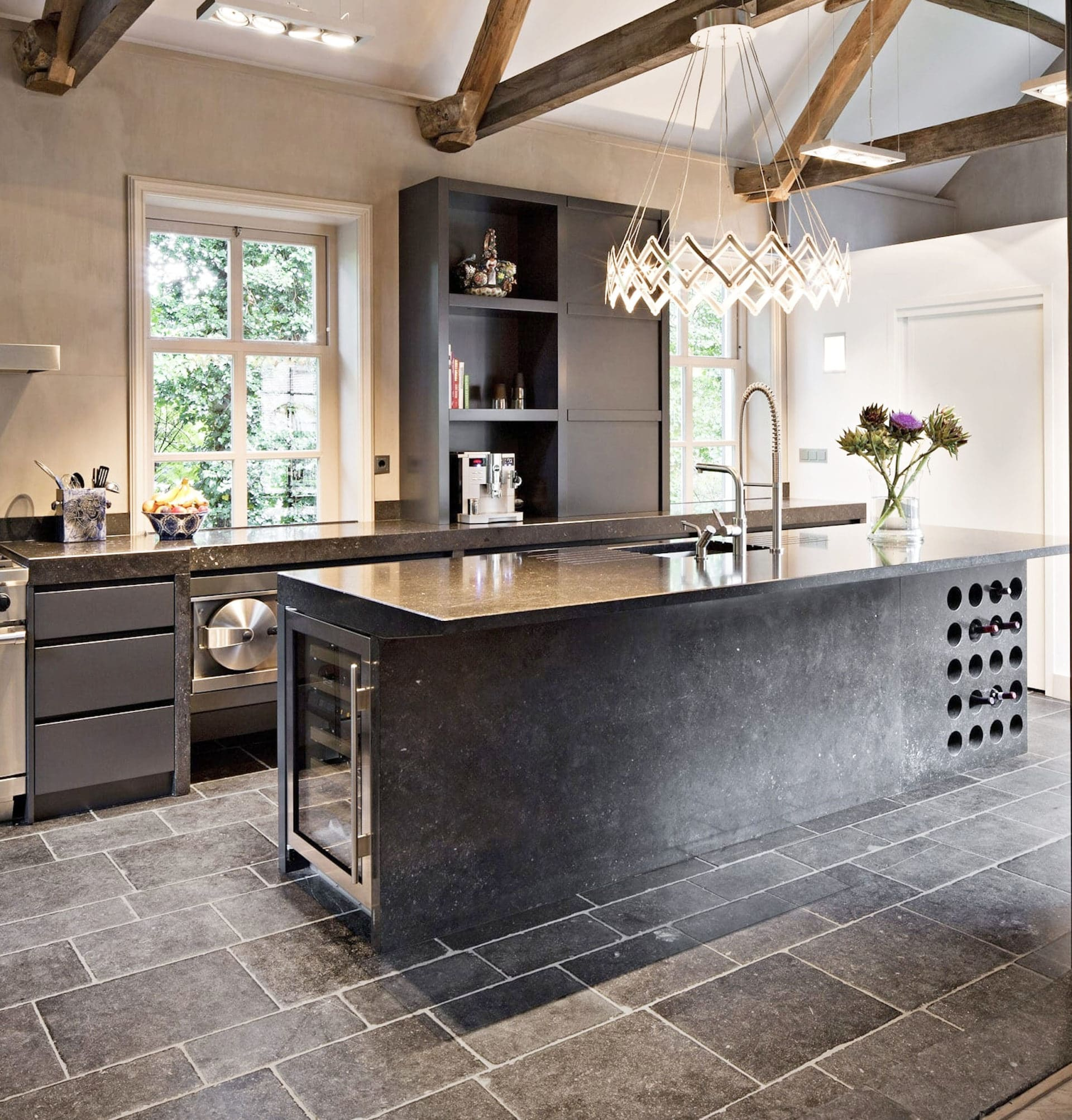 Pros and Cons of Natural Stone Flooring in Your Kitchen   Avalon ...